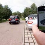 Park your car with your mobile phone