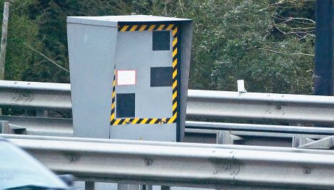 Where is the most active speed camera in France?