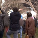 Organisers led the hundreds of thousands of anti-gay marriage protestors in an impromptu rendition of Gangnam Style, under the Eiffel Tower.Photo: Dan Mac Guill/The Local