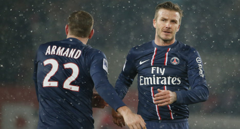 Beckham set for first start for PSG in cup