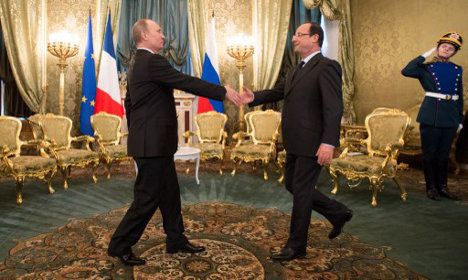 Hollande and Putin go cold on Syria solution