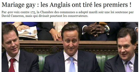 Gay marriage: France reacts as UK says 'oui'