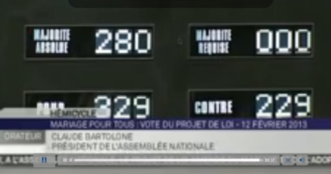 French parliament passes gay marriage bill