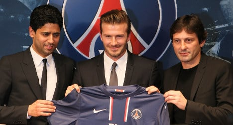 Penniless French nursery seeks Beckham's wages