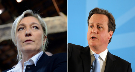 Britain's PM wins praise from French far-right