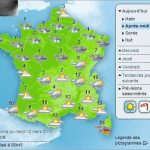 """France's weather forecast for the afternoon of March 12th. The northern half of the country was on 'orange  alert' (the second-highest level) for more snow, sleet and rain amid temperatures as low as -4° C. Météo France called the weather """"remarkable"""" for the season.Photo: Screengrab/Météo France"""