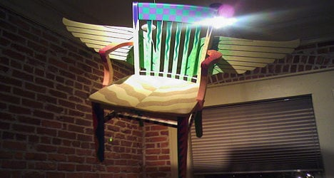 Family 'hit by flying chairs' in haunted house