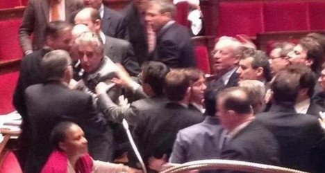 French MPs 'trade blows' over gay marriage