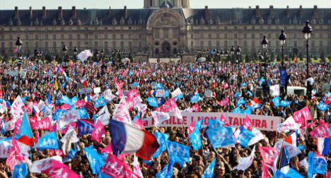 Thousands protest gay marriage amid tensions