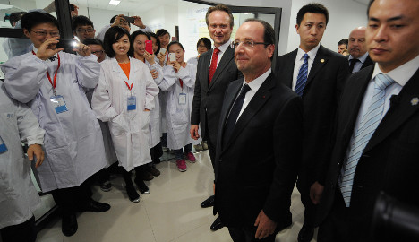 China seeks more balance in France trade