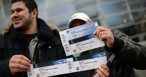 PSG-Barca tickets on sale for €1,400