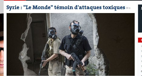 French reporters witness chemical arms in Syria