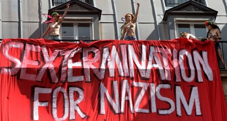 Topless Femen steal show at far-right march
