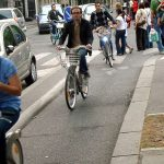 """RING THAT BELL: When the sun comes out, Parisians take to their bikes en masse and those cycle lanes that have been empty all winter will look like the Périphérique. Once they're on a bike, Parisians have a habit of mistaking their vehicle for a car and when a pedestrian strays into their path they will unashamedly start ringing their bell furiously. Don't be afraid to do the same. Instead of us shy foreigners whispering """"excusez-moi"""" at the last moment, do it the local way, and ring.Photo: Jean Louis Zimmerman"""