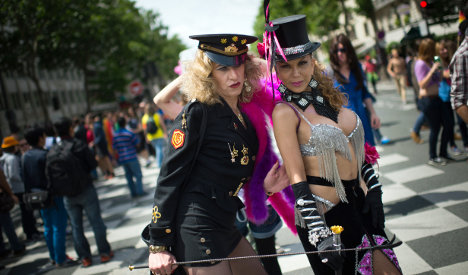 Thousands throng Paris streets for Gay Pride