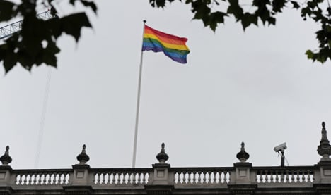 British embassy flies flag for gay pride in France