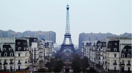 VIDEO: Chinese not so smitten by fake Paris
