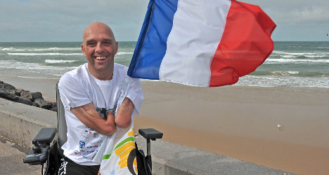 Channel swimmer 'angry' after wheelchair theft