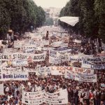 <strong>1984 private school reforms.</strong> Private, mostly Catholic schools reacted angrily to President François Mitterand's plans to take more control of private schools, who had been funded by the state for years. Accusing Education Minister Alain Savary of violating religious and academic freedom, protestors marched in Versailles in March, and 850,000 gathered at Place de la Bastille in Paris on June 24th (as pictured). The reforms were withdrawn.Photo: AFP