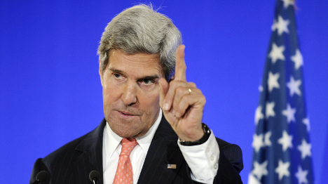 Kerry speaks French to the French on Syria