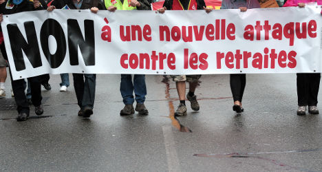 Protesters march over French pension reforms