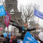<strong>Anti-gay marriage, 2013.</strong> When candidate François Hollande pledged to legalize gay marriage, he couldn't have imagined the furore that would follow. Despite supportive polls and a parliamentary majority, a vocal and passionate movement emerged against it. The 'Manif Pour Tous', however, reached its peak of popularity with a protest in Paris on January 13th, attended by between 340,000 and 800,000, before splitting into more extreme splinter groups. Gay marriage became law in May.Photo: Gay marriage opponents of all ages under the Eiffel Tower on January 13th. The Local France