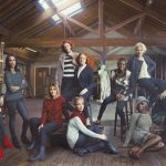 London Calling: Playful for the camera but bold and rebellious in style, the scene shot in a London artist's studio captures the essence of the London Calling trend with bold checks, relaxed wools and leather trims.Photo: Annie Leibovitz for Marks & Spencer