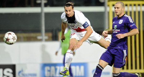VIDEO: Ibrahimovic bags four in Anderlecht rout