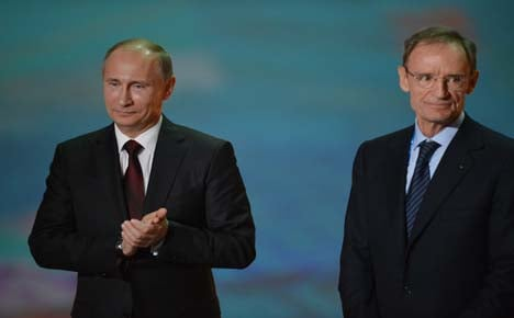 French Olympic legend defends 'nice' Putin
