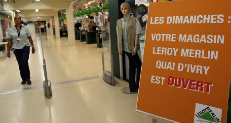 French stores win right to open on Sundays