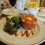 """<strong>Steak tartare:</strong> The sight of a Frenchman wolfing down a steak tartare, (chopped up or minced raw meat) has shocked many a newly-arrived foreigner in France. To many of us, steak tartare looks like it belongs in a polystyrene box on a supermarket shelf, not on a plate at a brasserie.  But Bogen disagrees. """"Steak tartare is really light, it's like eating sushi. It's easy to digest and you don't get any the grease you get from cooking the meat,"""" he said.Photo: William Kwan"""