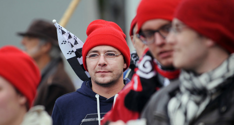 Patriotic protestors' red hats came from Scotland
