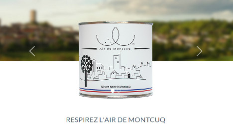 Student sells tinned fresh air from French village