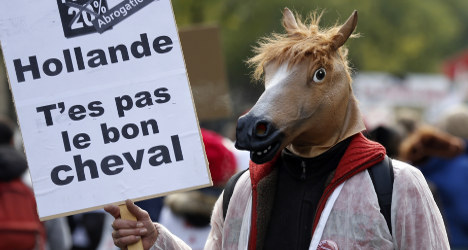 Photo of the day: Horses say 'neigh' to Hollande