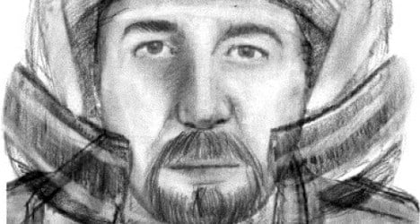 French police release sketch of motorcyclist