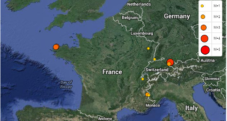 Brittany shakes again as another earthquakes hits