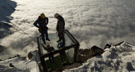 Step into the void in new stunning Alps skywalk