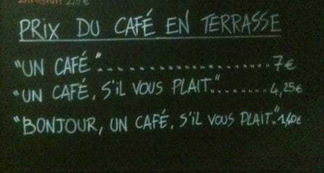 French café charges extra for rudeness