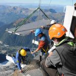 'Pas Dans Le Vide' or 'Step Into The Void'), is part of a refurbishment of the visitor centre at the summit of Aguille du Midi.  Photo: J Bozon