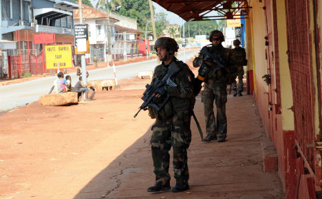 French troops in Bangui after deadly clashes