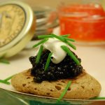 <strong>CAVIAR:</strong> Le Reveillon starts as it means to go on and with caviar or smoked salmon on blinis, the traditional apéritif sets the tone for the rest of the mammoth evening/morning. Photo: Stu Spivack