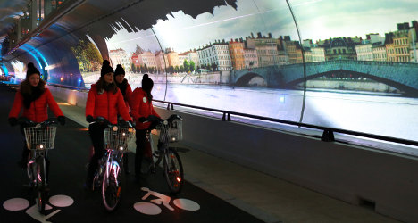 VIDEO: Lyon opens world's first green tunnel