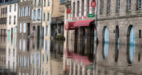 Parts of Brittany flooded amid high tide fears