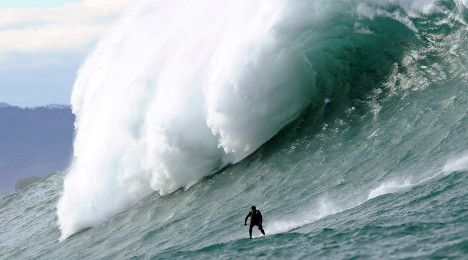 VIDEO: See surfers ride the giant 'Belharra' wave