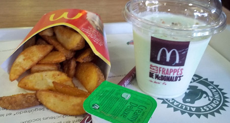 French diner hurt by McDonald's potato wedge