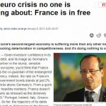 """CNN - France is in Free Fall: After The Economist it was the turn of American news site CNN to stick the knife in with an article in January 2013 titled: """"The euro crisis no one is talking about: France is in free fall"""". The article ruffled a few feathers in Paris with the words """"the world's investors and Eurozone optimists should awaken to the danger posed by France"""". Just like The Economist, CNN compared France unfavourably to Greece, Spain and Portugal. That's what hurts Paris the most.Photo: CNN"""