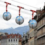 """Cable cars over the Seine: One of Paris mayoral candidate Anne Hidalgo's ideas is to link the stations Gare de Lyon and Austerlitz with a cable car system across the Seine. """"Sounds good for commuters, not so for lovers of Paris's heritage,"""" writes Le Parisien.Photo: Jean Pierre Clatot/AFP"""