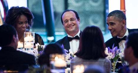 Hollande wines and dines with stars at White House