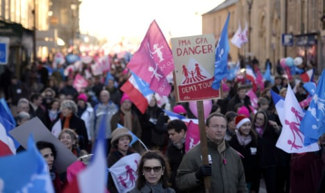 Thousands march in France for 'family values'