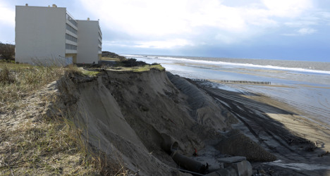 VIDEO: French coastline washed away in storms